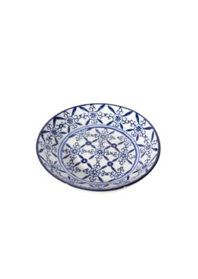 Amelia Round Blue & White Dish