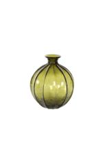"Green Glass Vase 8x10"""
