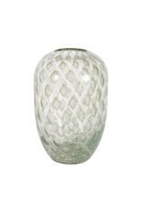 """Bubbled Green Glass Vase 11""""H"""