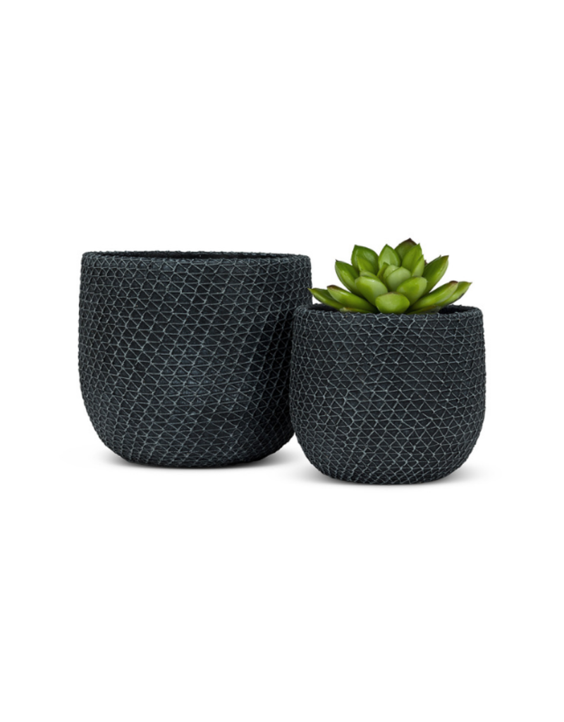 Mesh Texture Planter Charcoal Small