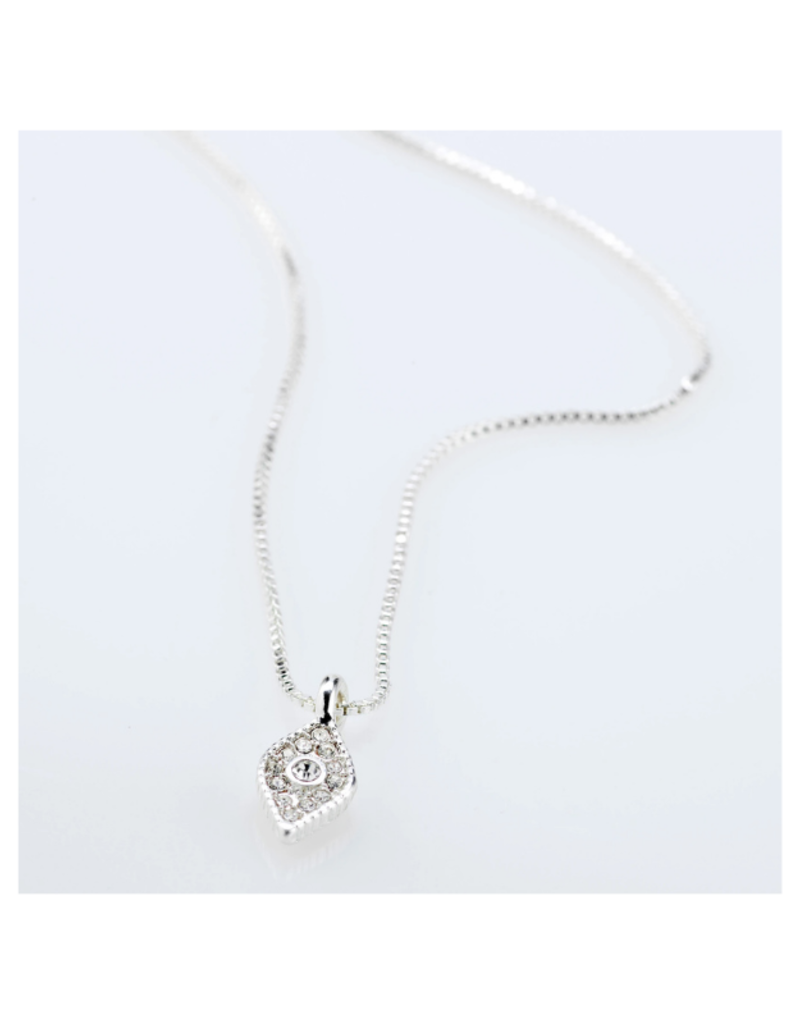 PILGRIM Sincerity  Crystal Necklace Silver-Plated by Pilgrim
