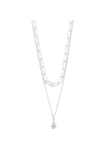 PILGRIM Sincerity Grey Necklace Silver-Plated by Pilgrim