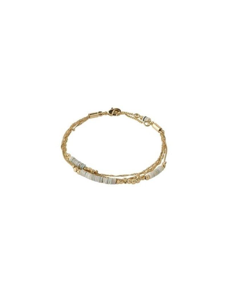 PILGRIM Sincerity  Grey Bracelet Gold-Plated by Pilgrim