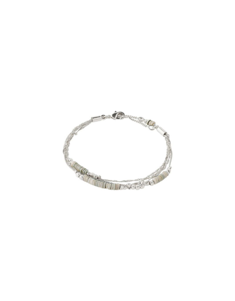 PILGRIM Sincerity  Grey Bracelet  Silver-Plated by Pilgrim