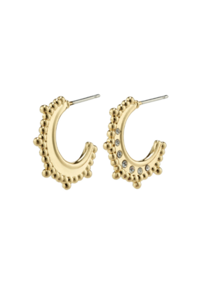 PILGRIM Sincerity  Earrings Gold-Plated with Crystals by Pilgrim