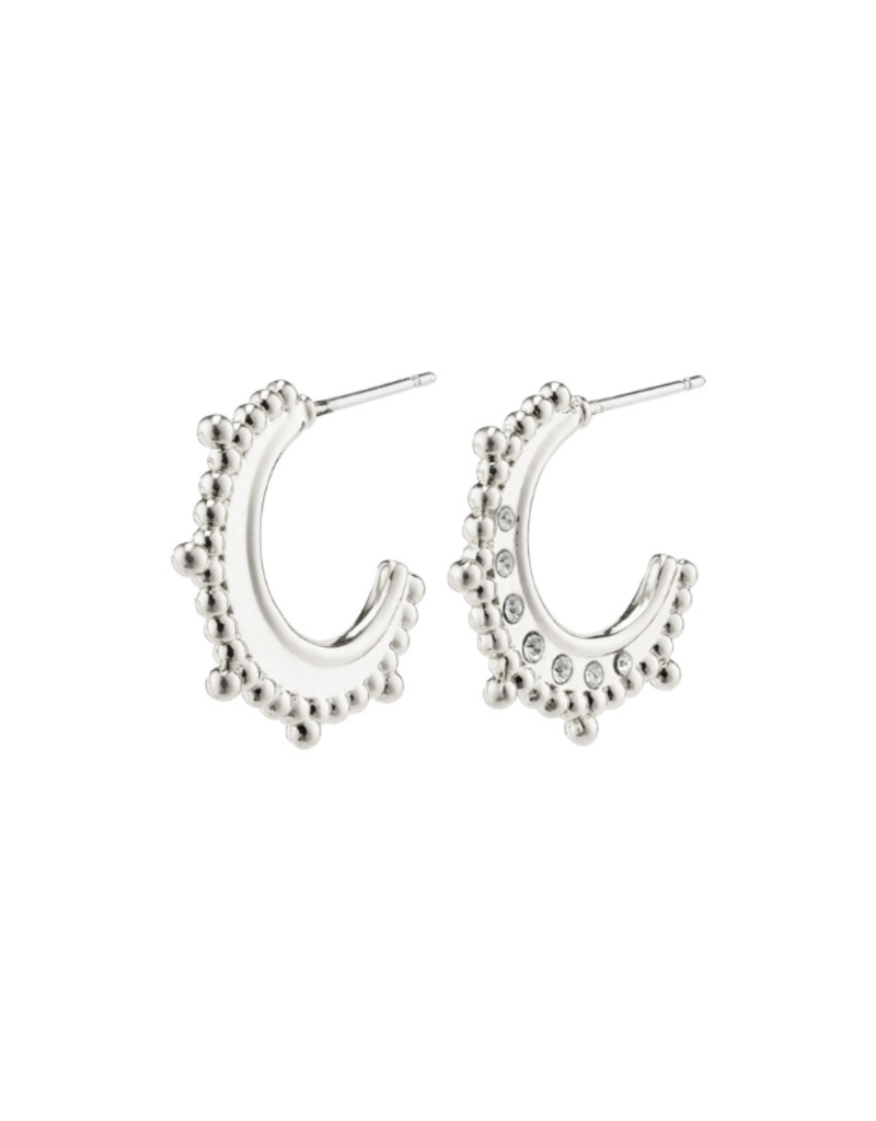 PILGRIM Sincerity  Earrings Silver-Plated with Crystals by Pilgrim