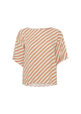 ICHI Imara Top in Caramel Stripe by ICHI