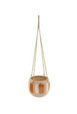 Hanging Planter Orange & Natural