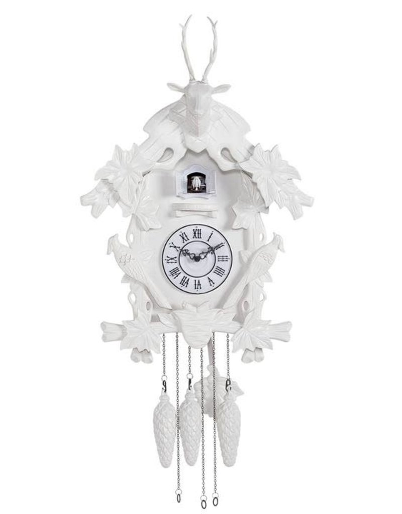 Village Matte White Cuckoo Clock
