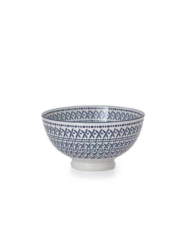 Kiri Bowl Blue Stitch Small