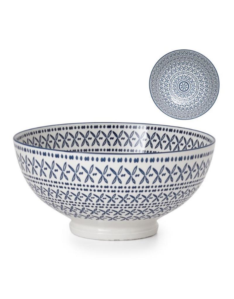 Kiri Bowl Blue Stitch Large
