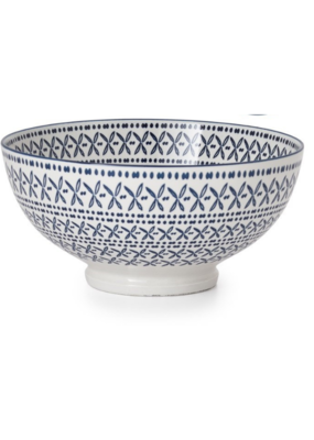 Kiri Bowl Blue Stitch Large