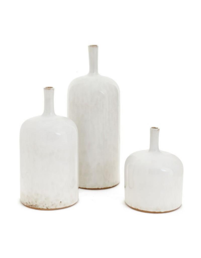 Cream Bottle Vase
