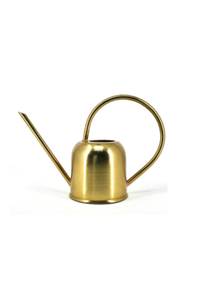 Gold Shiny Metal Watering Can