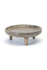 Round Wood Tray with Legs