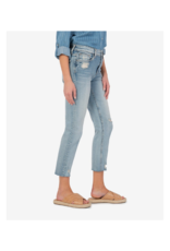 Kut from the Kloth Rachael Mom Jean with Raw Hem in Cactus Wash by Kut from the Kloth