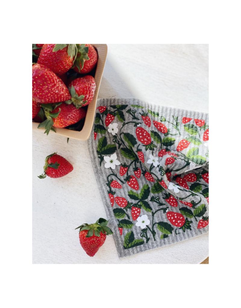 Ten & Co. Swedish Sponge Cloth Strawberry