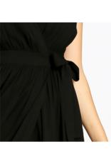 See U Soon Black Wrap Dress by See U Soon