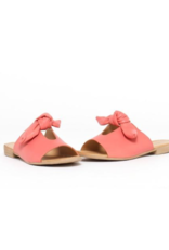 Bueno Joley Slide in Coral Leather by Bueno