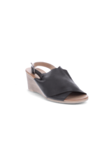Bueno Jupiter Wedge Heel in Black Leather by Bueno