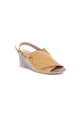 Bueno Jupiter Wedge Heel in Mustard Leather by Bueno