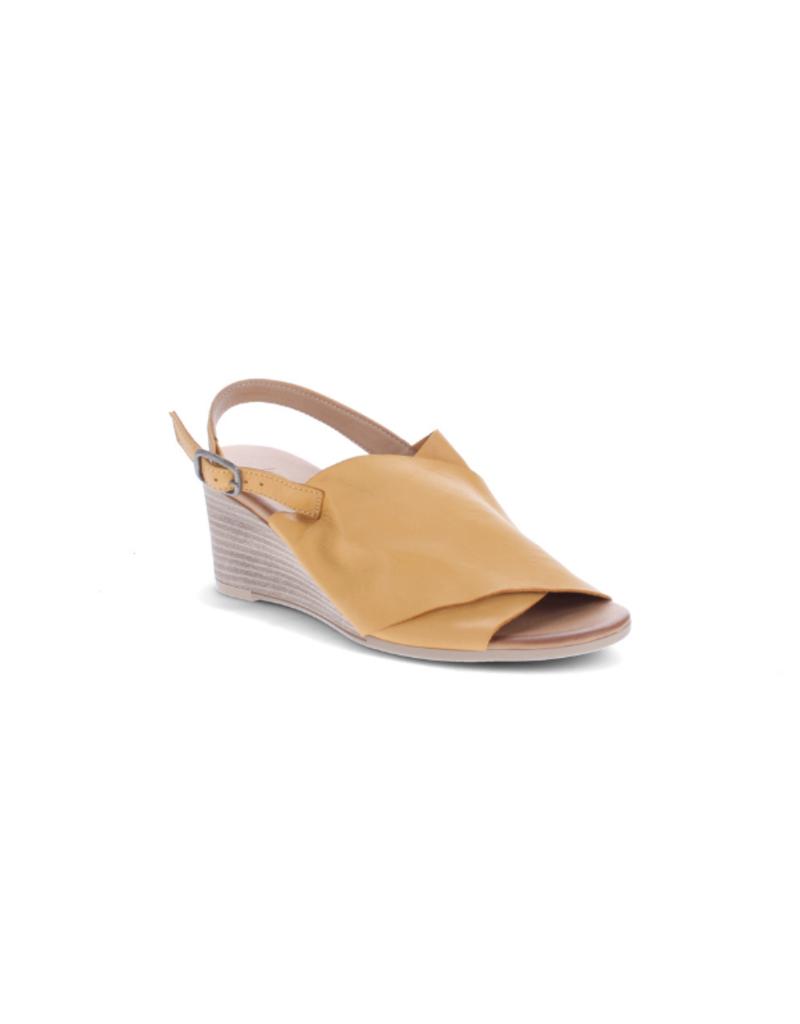 Bueno Jupiter Wedge Heel in Mustard Leather by Bueno