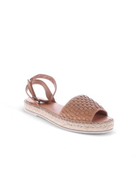 Bueno Kaja Espadrille Sandal in Tan Leather by Bueno