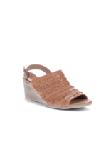 Bueno Mable Wedge Heel in Tan Leather by Bueno