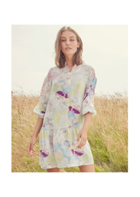 ICHI Cloudy Dress in Multi Colour by ICHI