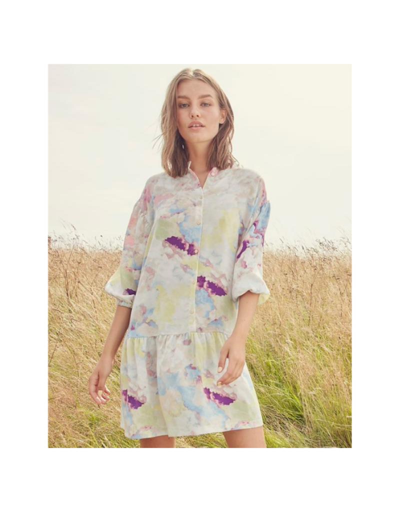 ICHI Cloudy Dress in Multi Colour by ICHI