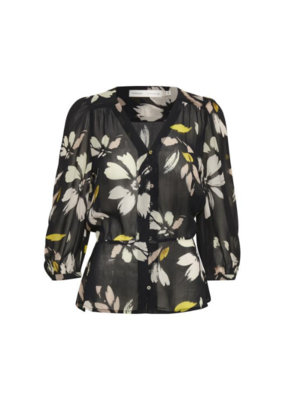 InWear Florizza Blouse Black Painted Blocks Print by InWear