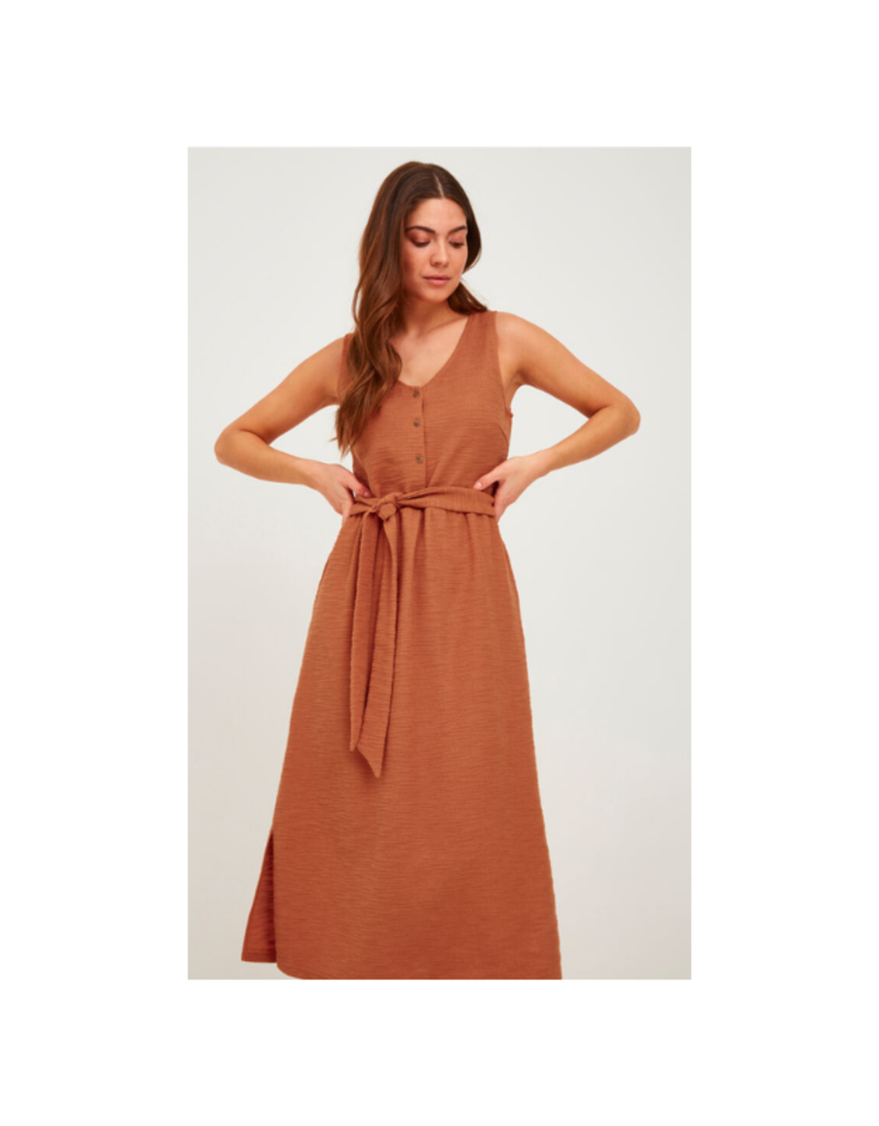 ICHI Alabama Jersey Dress in Sunburn by ICHI