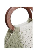 ICHI itza  Cotton Handbag in Swamp by ICHI