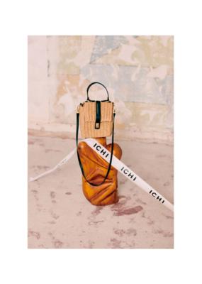 ICHI Henja Paper Handbag in Tan by ICHI
