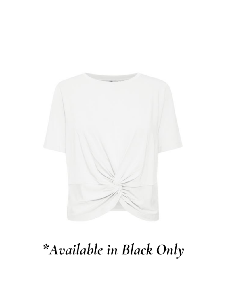 b.young Tamala Knot Tee in Black by b.young