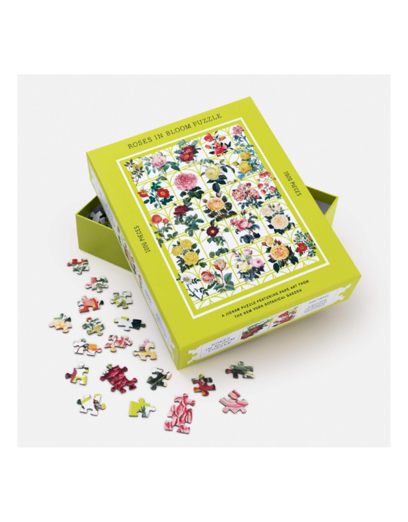 Roses In Bloom Puzzle:  A 1000-Piece Jigsaw Puzzle Featuring Rare Art from the New York Botanical Garden