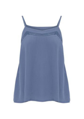 ICHI Citro Sleeveless Top in Coronet Blue by ICHI