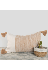 """Moroccan Pillow 12x20"""" in Dipped Coco"""