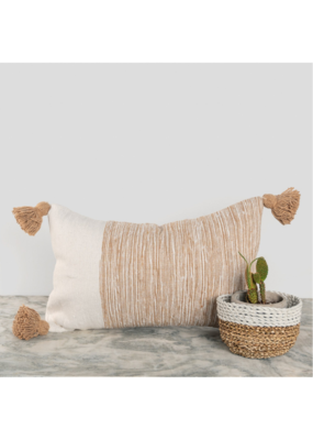 "Moroccan Pillow 12x20"" in Dipped Coco"