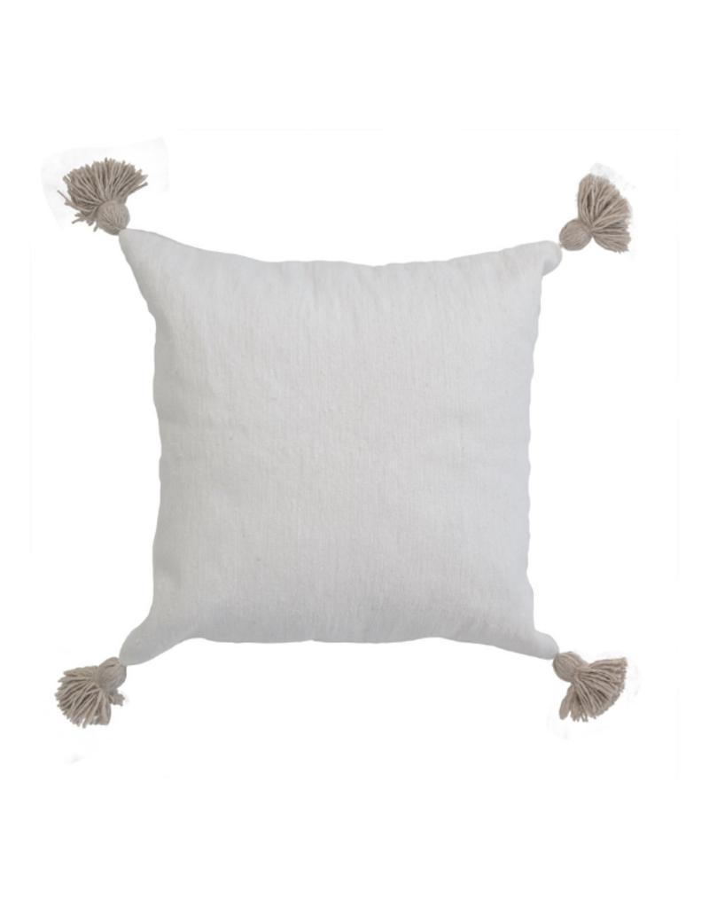 "Moroccan Pillow 20x20""  in Beige Pom"
