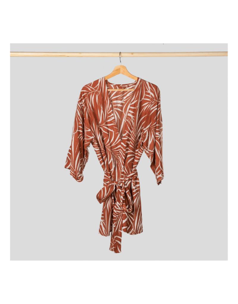 One Size Kimono Coverup in Terracotta