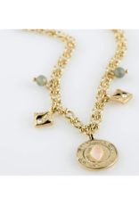 PILGRIM Nomad Necklace with Crystals Gold-Plated by Pilgrim