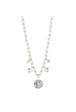 PILGRIM Nomad Necklace with Crystals Silver-Plated by Pilgrim