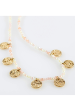 PILGRIM Nomad Rose Necklace Gold-Plated by Pilgrim