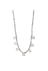 PILGRIM Nomad Grey Necklace Silver-Plated by Pilgrim