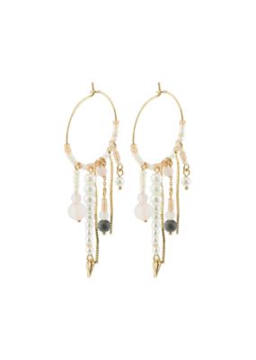 PILGRIM Nomad Beaded Earrings Gold-Plated by Pilgrim