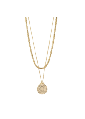 PILGRIM Nomad Necklace Gold-Plated by Pilgrim