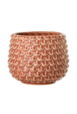 Bloomingville Stoneware Planter with Fish Scale Pattern