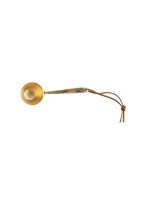 Bloomingville Brass Metal Scoop with Leather Tie