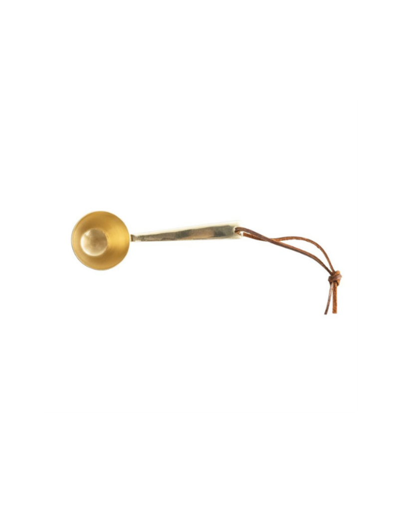 Bloomingville Brass Metal Scoop with Leather Tie